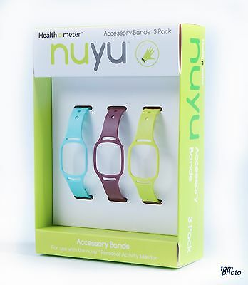 Health o meter nuyu Accessory Band 3-Pack - Multi-Colored HNY402-LPK Free Ship