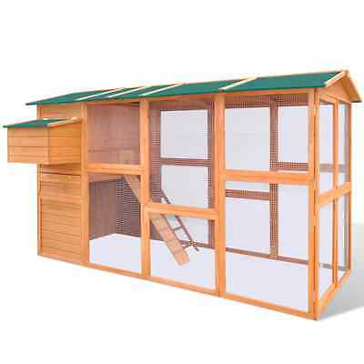 S# Rabbit Hutch Cage Pet Guinea Pig Chicken Coop Ferret Hen Run House Wooden 289