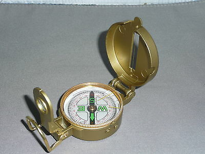 Compass  Brass     Military Style Compass