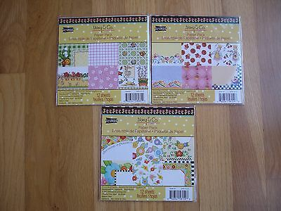 """Mary Engelbreit Scrapbook Paper 6""""x 6"""" 12 Sheets Each Cards Valentines Day Lot 3"""