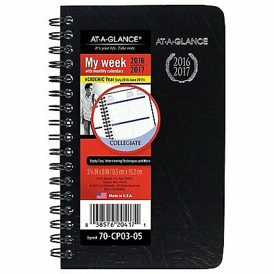 AT-A-GLANCE Academic Year Weekly / Monthly Pocket Appointment Book / Planner, -