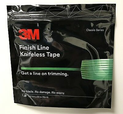 NEW! 3M FINISH LINE KNIFELESS TAPE FOR GRAPHICS WRAPS 1/8''X164'- 3.5MMx50 MTR.