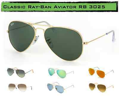 Ray Ban Aviator RB3025 58mm Sunglasses - Color Variations Brand New BIG SALE!