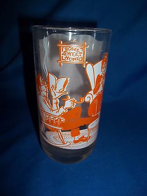Vintage Drinking Glass Home Sweet Home Great Graphics and Song Lyrics
