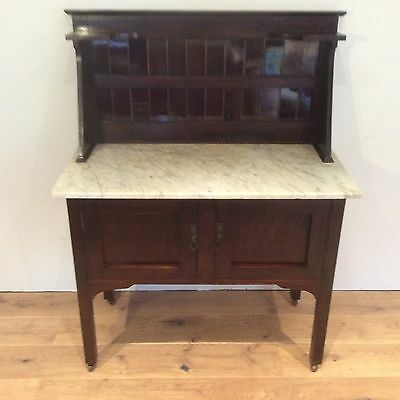 Antique Blackwood Marble Top Washstand. Circa 1900.