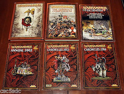 Warhammer Fantasy Battles 7th ed + General's Compendium + Chronicles + Skirmish