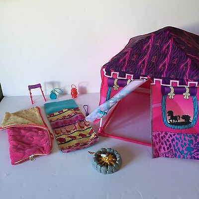 Barbie Camping Tent Campfire Camping Safari  Camp Outdoors Accessories