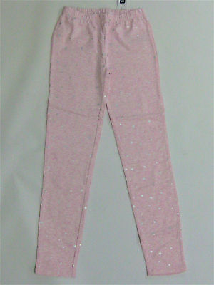 NWT Gap Kids Girls Size Large 10 XL 12 Pink Sparkle Star Leggings Pants