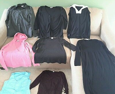 Women's Maternity size medium clothes lot of 8 (42e)