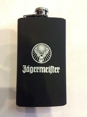Jagermeister Liquor Flask With Rubber Cover