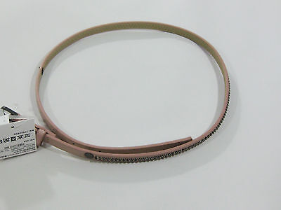 NWT Kid Girls Old Navy Belt Size Medium 8 Fashion Pink Faux Studded Leather
