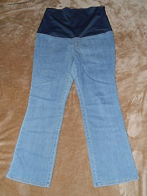 EUC Women's New Additions Maternity Full Belly Jeans size 8 LIGHT WASH