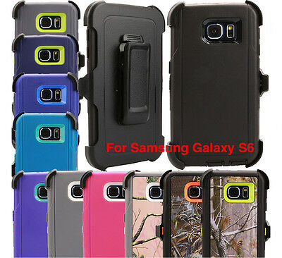 For Samsung Galaxy S6 Regular Case (Belt Holster fits Otterbox Defender series)