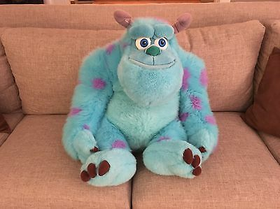 """Rare Monsters Inc HUGE 32"""" Sully Plush Stuffed AWESOME FLUFFY Toy Disney Store"""