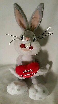 """Bugs Bunny """"What's Up Valentine"""" Plush Bunny, 10"""""""
