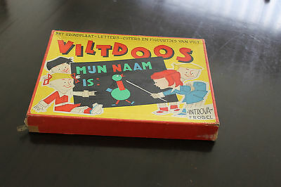 Vintage Felt pieces Set In Original Box viltdoos