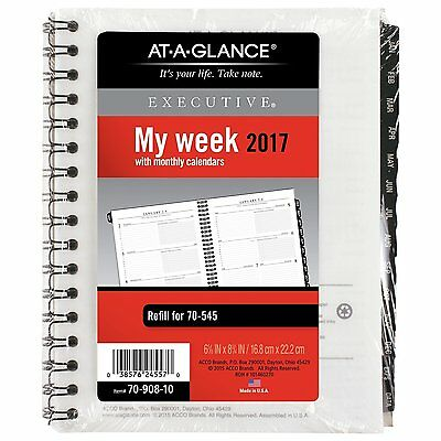 AT-A-GLANCE Weekly / Monthly Appointment Book / Planner Refill 2017, for 70-545,