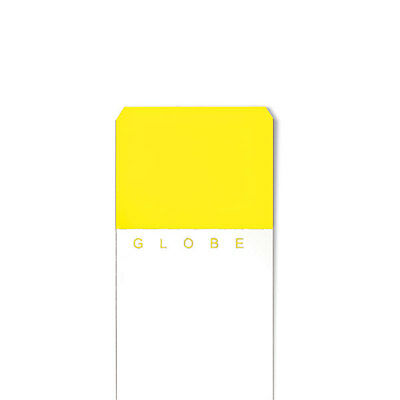Color White Glass Slides Clipped Corners &amp Beveled Edges - Yellow 1440 pk
