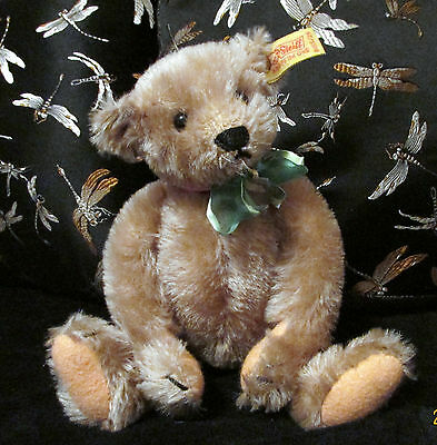 "Vintage 1980's Margaret Strong 10"" baby Steiff  teddy bear with button and tag"