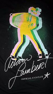 XXL Rock Band QUEEN singer ADAM LAMBERT Rare FAN CLUB T-Shirt 2010