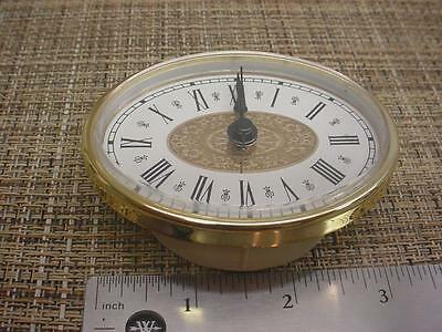 "New 3-1/4"" x 2-1/2""  Oval Quartz Desk or Mantel Clock Replacement Movement E984c"