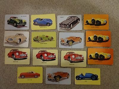 1955 Mothers Cookies lot of 15 sports car trading cards