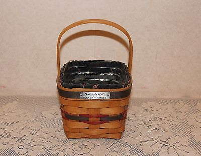 Longaberger 1993 Inaugural Basket Combo with Protector and Liner
