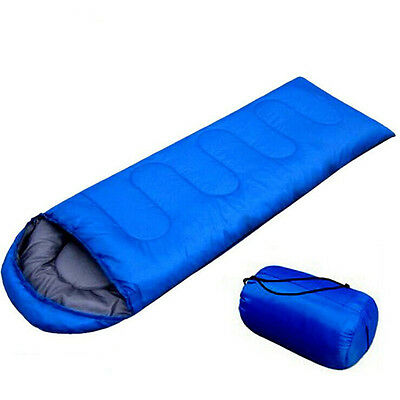 New Outdoor Light Sleeping Bag Camp Hiking Carrying Case Blue Fall Spring Single