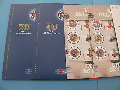 Canada Post Nhl Hockey All-Star Stamps / Lot Of Five Sheets / Nm