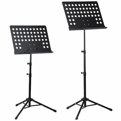 UK Heavy Duty Orchestral Conductor Sheet Music Stand Holder Tripod Base Foldable