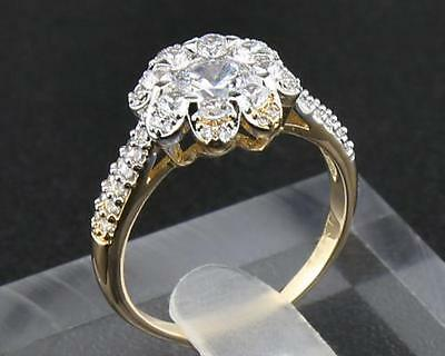 Fine 2.36ct  Natural  Diamond in Solid 14kt  Yellow Gold Rings 9#