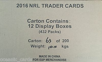 2016 Traders Rugby League Trading Cards Factory Sealed Case With Duo Card
