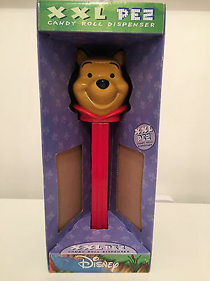 """DISNEY Collectible XXL GIANT PEZ Candy Roll Dispenser WINNIE THE POOH Stands 12"""""""