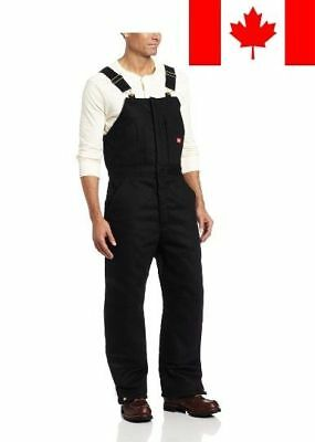 Dickies Men's Insulated Bib Overall, Black, X-Large