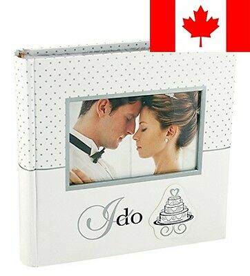 Malden 7056-26 4x6-Inch I Do Photo Album Wedding Collection 2 up with Memo