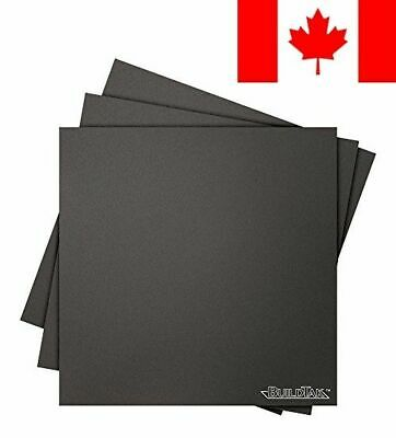 BuildTak 3D Printing Build Surface, 8x8-Inch Square, Black (Pack of 3)