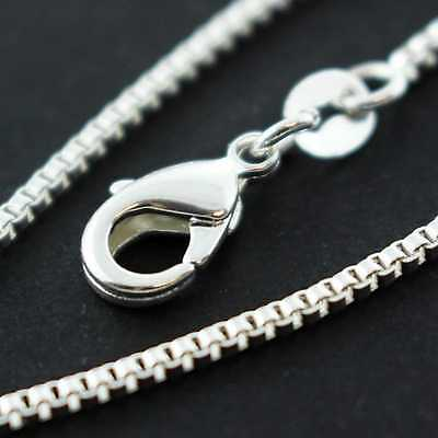 An715 Genuine Real 925 Sterling Silver S/f Solid Fine Box Pendant Necklace Chain