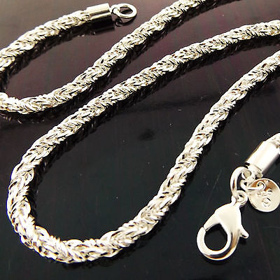 A901 Genuine Real 925 Sterling Silver S/f Solid Unisex Pendant Necklace Chain