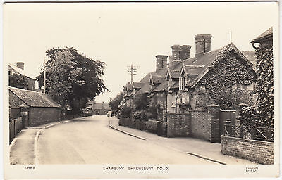 SHROPSHIRE - Shawbury - Shrewsbury Road - Frith - 1960s used Real Photo postcard