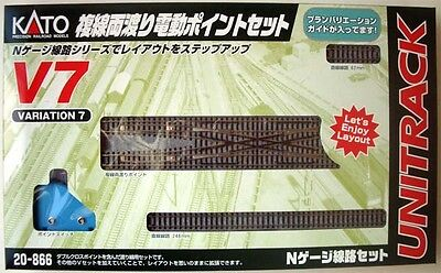 Kato 20-866 UNITRACK Variation Set V7 Double Crossover Turnout Set (N scale)