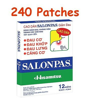 Lot 20x12 = 120 Patches Hisamitsu SALONPAS - Muscle Pain Relieving