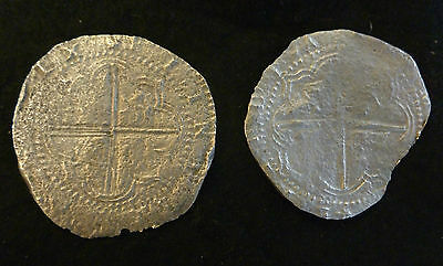 Shipwreck Coins Rill Cove Wreck 1618 Two 8 Reales Cobs Potosi Mint With COA