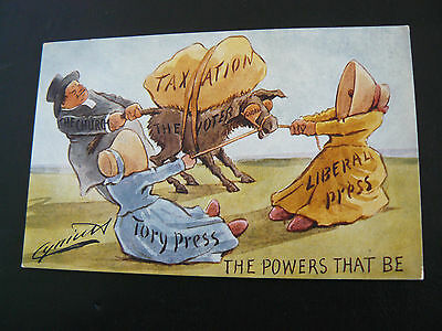 Political Postcard by Cynicus - Liberal - Tory - Taxation - Voter - Church