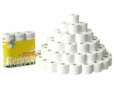 Renova Skin Care Purissimo 3 Ply Toilet Tissue Paper Roll (60 Rolls)