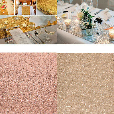 4 Colors 12''*70''/12''*108'' Sequin Table Runner Desk Cover Wedding Party Decor