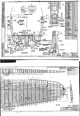 Avro Lancaster bomber WW2 Blueprint Plans period drawings RARE Archives 1940's