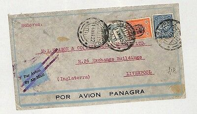 I23 1932 Central/South America to Liverpool by Air Mail, Panagra