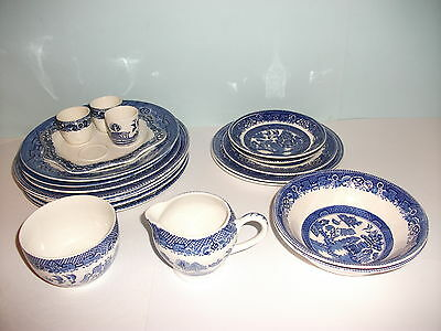 Collection Of Willow Pattern Crockery