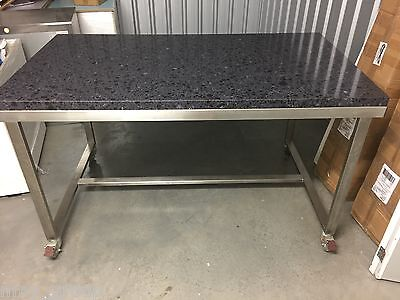 Kitchen Mobile S/S Work Bench with Granite top