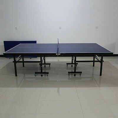 Indoor Outdoor Table Tennis Ping Pong Table Full Size Foldable With Wheel New HM